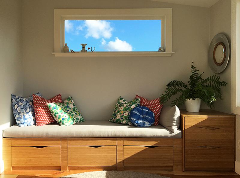 HANDMADE: Bamboo ply window seat