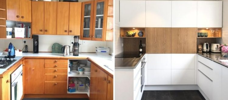 Kitchen before and after wellington